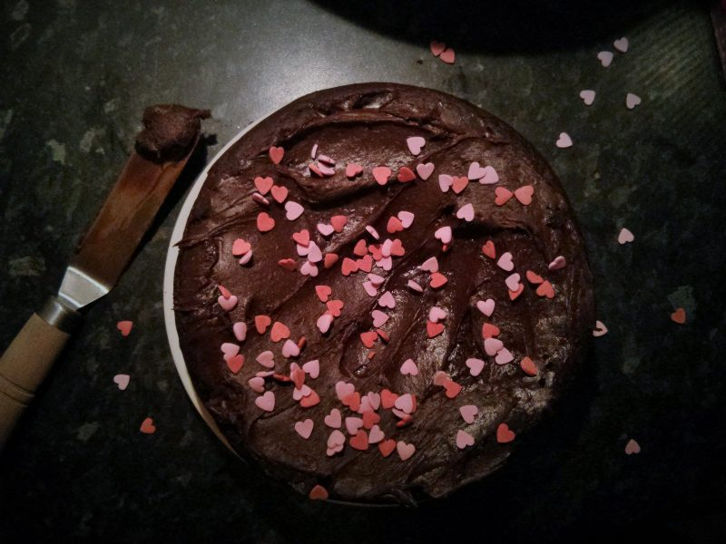 This Vegan Mocha Cake, is sure to be a winner with the chocolate & coffee lovers in your life. A dark, fudgy, egg free chocolate cake made with dairy free milk, good quality cocoa powder and a shot of coffee.