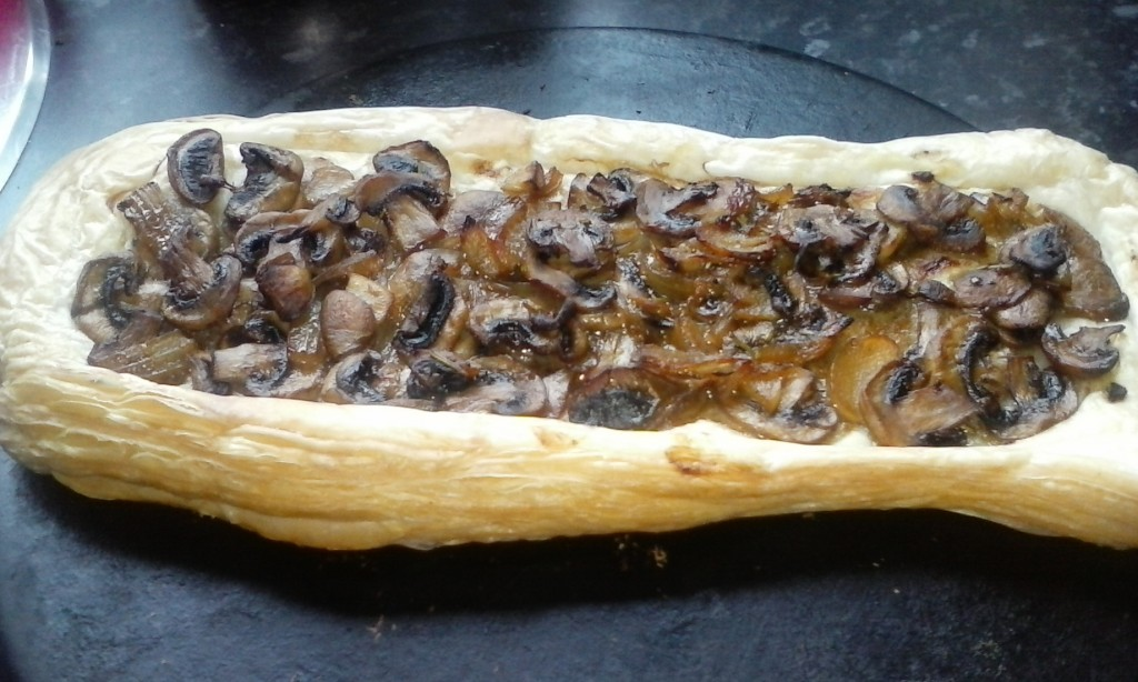 This Creamy Vegan Garlic Mushroom Tart is a speedy brunch or light lunch for friends. Crisp puff pastry smothered in a layer of meaty mushrooms and a creamy dairy free sauce. It's Dairy free, egg free and suitable coeliacs with suitable Gluten Free pastry.
