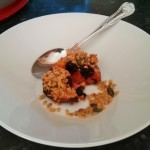 Baked Nectarine and Blackberry Crumble Surprise