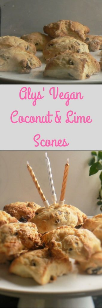 Alys' Vegan Coconut & Lime Scones