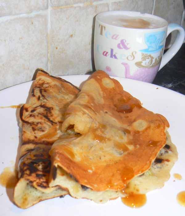 Apple & Raisin Vegan Pancakes
