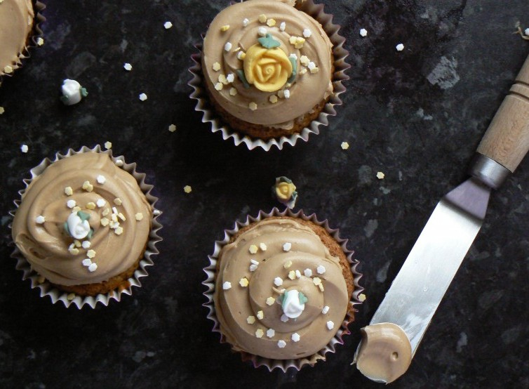 Afternoon Tea Recipes: Pretty Vegan Coffee Cupcakes