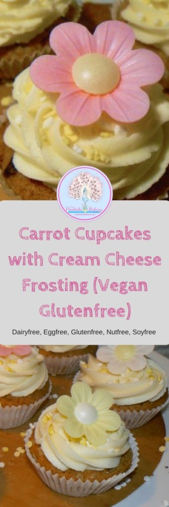 Carrot Cupcakes with Cream Cheese Frosting (Vegan Glutenfree)