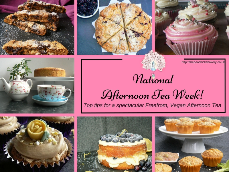 Vegan Recipes for Afternoon Tea Week (Dairyfree, Soyafree)!