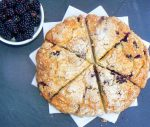 Vegan Blackberry & Apple Scones