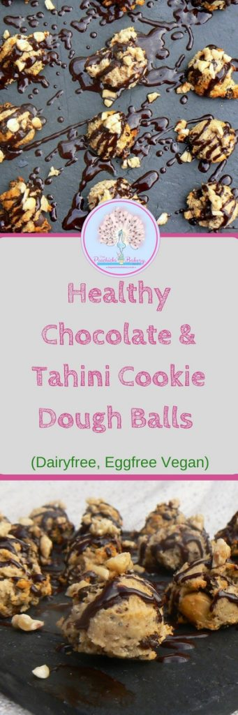 These Healthy Chocolate & Tahini Cookie Dough Balls are soft, chewy and full of crunchy nuts & seeds. They make a great vegan protein packed nutritious post swim!