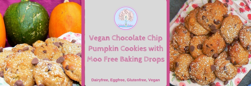 Vegan Chocolate Chip Pumpkin Cookies with Moo Free Baking Drops