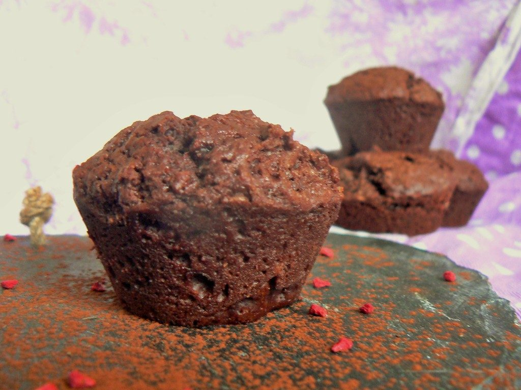 The Essential Vegan Chocolate Muffins recipe from @Peachicksbakery! Soft, dark and gooey as well as dairyfree, eggfree, soyfree and vegan friendly (for all of you taking part in Veganuary!) What more do you need?!