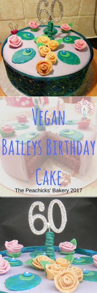 Vegan Baileys Birthday Cake with a Creamy Dairyfree White Chocolate, Coffee Buttercream