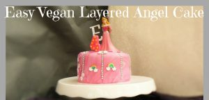 Ginger Peachick's Sleeping Beauty Birthday Cake - Easy Vegan Layered Angel Cake