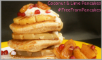 #FreefromPancakes Coconut & Lime Vegan Pancakes (GlutenFree)