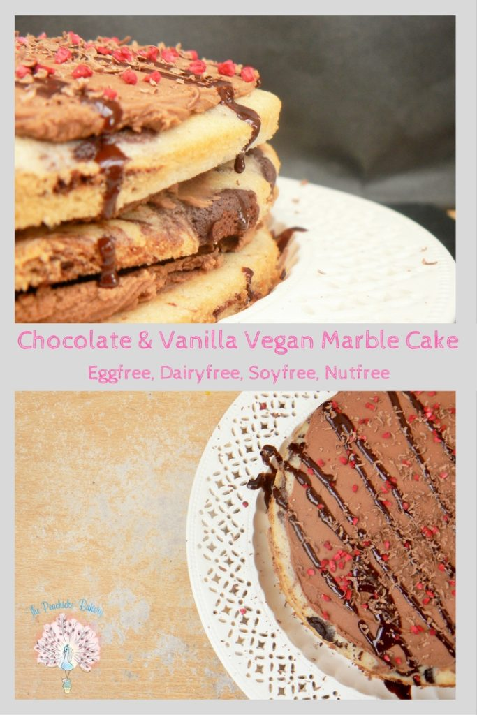 Can't decide between vanilla or chocolate cake? Why not have both with this Chocolate & Vanilla Vegan Marble Cake! Pretty, easy to make & sure to impress!