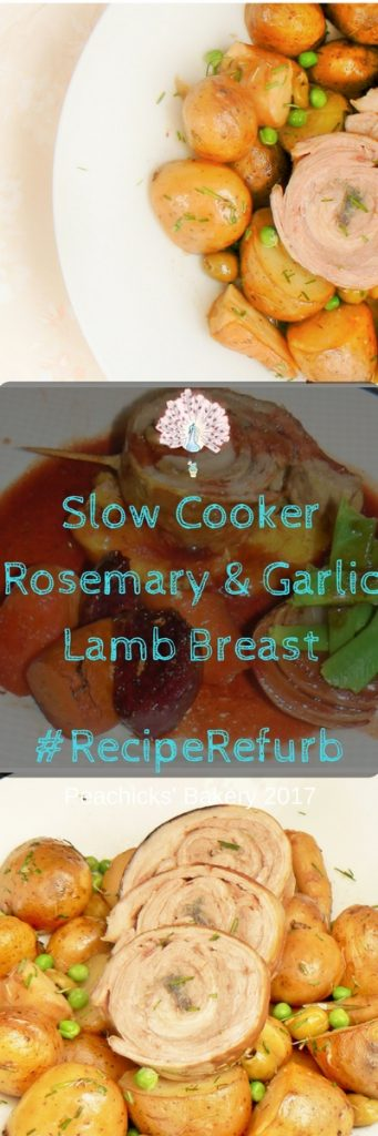 #RecipeRefurb Challenge #1 - Slow Cooker Rosemary & Garlic Lamb Breast. Dairyfree, Glutenfree family slow cooker favourite, served with seasonal vegetables