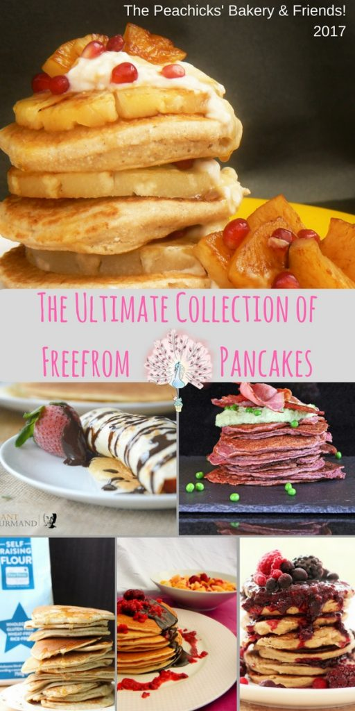 The Ultimate Collection of Freefrom pancakes from The Peachicks' Bakery and Friends! Every special diet and allergy covered so no need to miss out this pancake day!