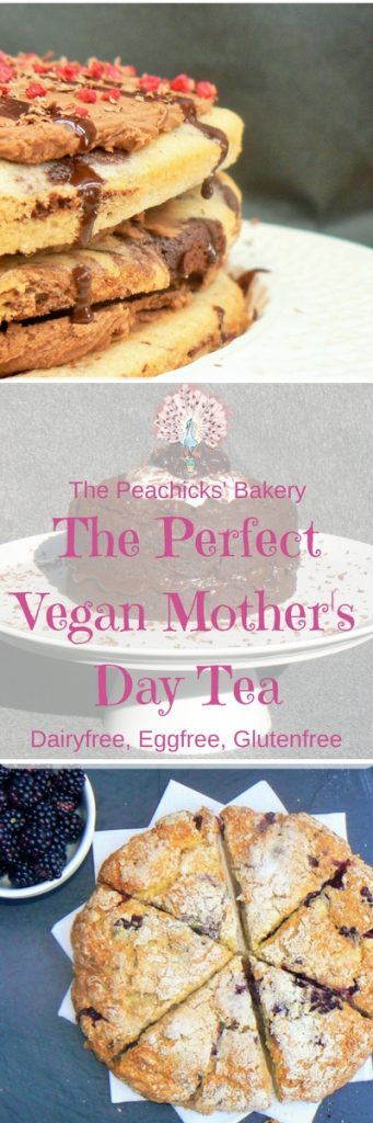 Tasty Recipes for the perfect Vegan Mothers Day Tea.  With a little help from some fantastic freefrom bloggers I give you a host of dairyfree, glutenfree & eggfree recipes for spoiling your mum this Mother's Day!