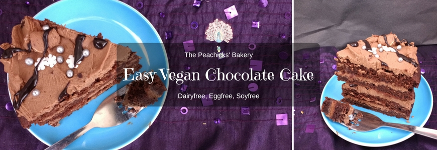 Easy Vegan Chocolate Layer Cake (Dairyfree Eggfree)