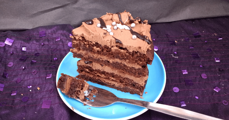 Easy Vegan Chocolate Layer Cake (Egg Free)