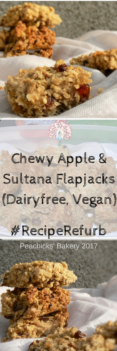 These Chewy Apple & Sultana Flapjacks are a firm family favourite. Dairyfree and perfect for picnics, lunchboxes or just an afternoon pick me up with a cup of tea! They are just as good with tinned apples or fresh, whatever you have lying around!