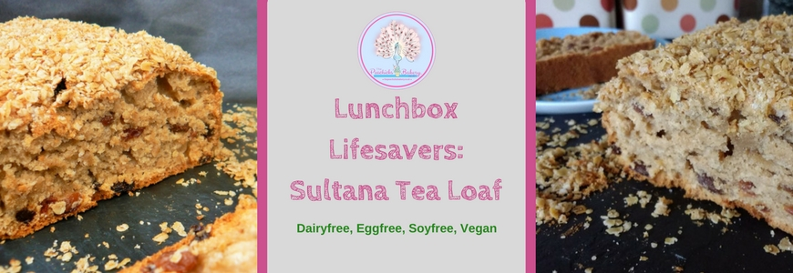 Lunchbox Lifesavers: Sultana Tea Loaf (Dairyfree Eggfree Vegan)