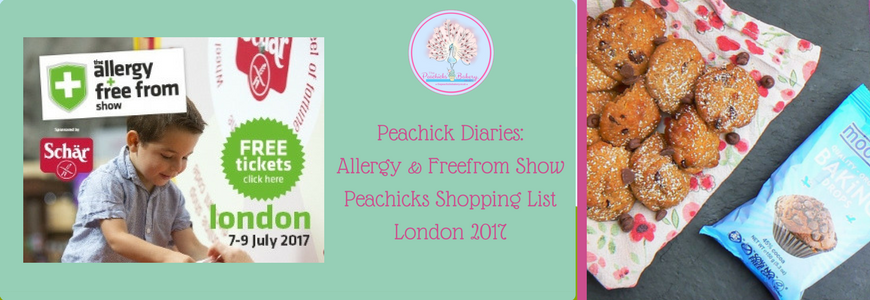 Peachick Diaries: Allergy & Freefrom Show Shopping List 2017