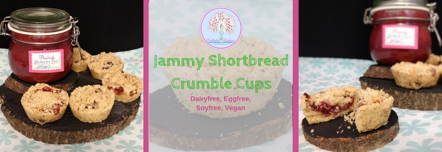 Millie's Jammy Shortbread Crumble Cups (Dairyfree, Vegan)
