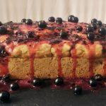 Gluten-free Vegan Berry Courgette Loaf with Blackcurrant Glaze (Zucchini Bread)