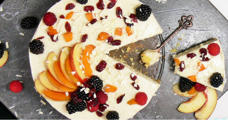 #FreeFromSummer Dairy-Free White Chocolate Cheesecake (Vegan, Gluten-free Options)