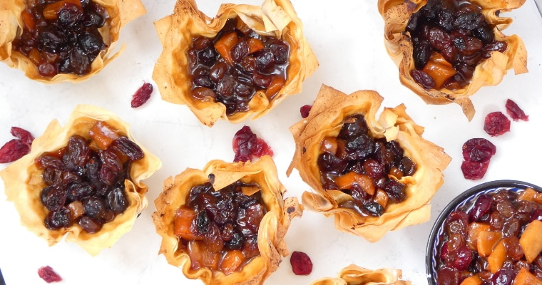 Fruity Vegan Mincemeat with Cranberry & Persimmon